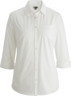 Edwards Ladies Essential Broadcloth Shirt 3/4 Sleeve-