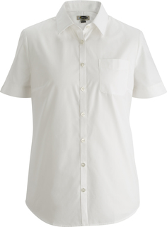 Edwards Ladies Essential Broadcloth Shirt Short Sleeve-