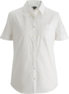 Edwards Ladies Essential Broadcloth Shirt Short Sleeve-Edwards