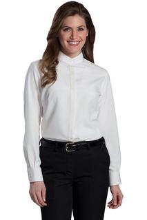 Edwards Ladies Batiste Banded Collar Shirt