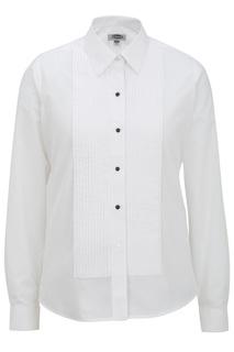 Women's Tuxedo Shirt 1/4 Pleat-