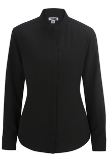 Edwards Ladies Stand-Up Collar Shirt-Edwards
