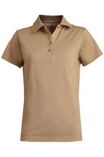 Edwards Ladies Blended Pique Short Sleeve Polo-Edwards