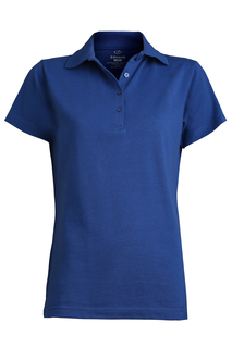 Edwards Ladies Blended Pique Short Sleeve Polo-Edwards