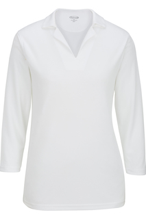 Edwards Ladies Performance Flat-Knit 3/4 Sleeve Polo-Edwards