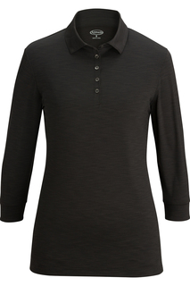 Edwards Ladies 3/4 Sleeve Optical Polo-Edwards