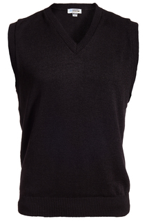 Edwards V-Neck Acrylic Sweater Vest-Edwards