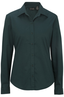 Edwards Hospitality Shirts, Blouses, Polos & Camps Ladies Cottonplus Long Sleeve Twill Shirt-Edwards