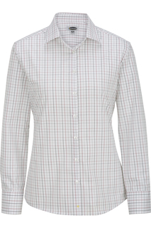 Edwards Womens Long Sleeve Patterned Dress Shirt-
