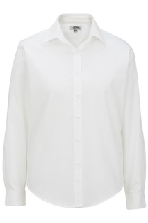 Edwards Ladies Pinpoint Oxford Shirt - Long Sleeve-Edwards