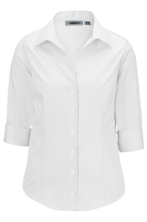 Edwards Ladies Oxford Non-Iron Dress Blouse - 3/4 Sleeve