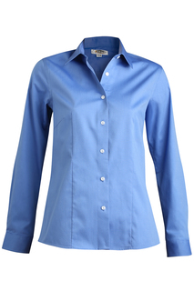 Edwards Ladies Oxford Wrinkle-Free Long Sleeve Blouse-