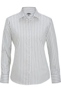 Edwards Corporate Hospitality New Products 5983 Womens Long Sleeve Patterned Dress Shirt-Edwards