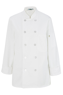 Edwards Ladies 10 Button Long Sleeve Chef Coat-Edwards