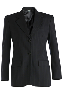 Edwards Ladies Pinstripe Wool Blend Suit Coat-Edwards
