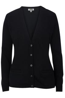 Edwards New Products for Hospitality Ladies V-Neck Cardigan Sweater-Tuff-Pil Plus-Edwards
