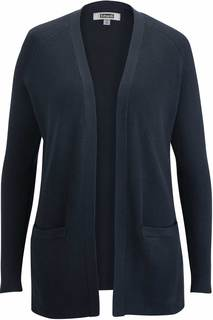 Edwards Ladies Open Front Tunic Cardigan-