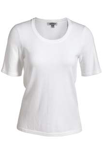 Edwards Ladies Short Sleeve Scoop Neck Sweater-