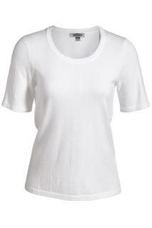 Edwards Hospitality Shirts Womens Edwards Ladies Short Sleeve Scoop Neck Sweater-Edwards