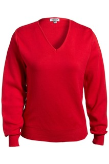 Edwards Ladies V-Neck Cotton Sweater-