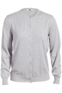 Edwards Ladies Jewel Neck Cotton Cardigan Sweater-