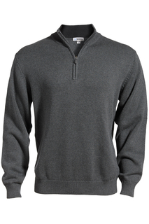 Edwards Quarter Zip Cotton Blend Sweater-