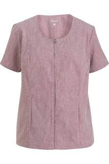 Edwards Ladies Scoop Neck Zip Front Tunic-