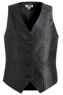 Edwards Ladies Grid Brocade Vest-
