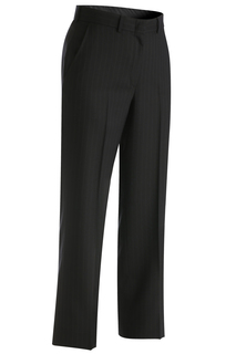 Edwards Ladies Pinstripe Flat Front Pant-Edwards
