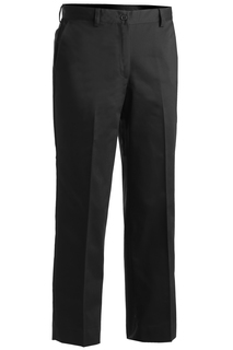 8572 Edwards Ladies Microfiber Flat Front Pant-Edwards