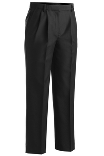 Edwards Ladies Washable Wool Blend Pleated Front Pant-Edwards