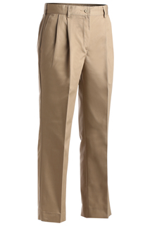 Edwards Ladies All Cotton Pleated Pant-Edwards