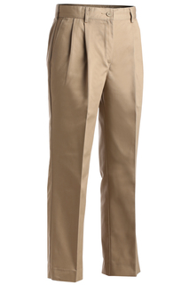 Edwards Ladies Blended Chino Pleated Pant-Edwards