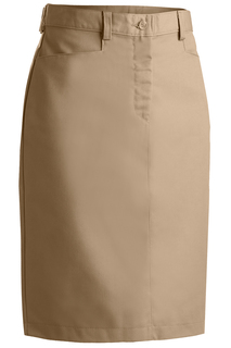 Edwards Ladies Blended Chino Skirt-Medium Length-Edwards