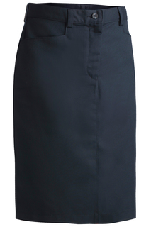Edwards Ladies Blended Chino Skirt-Medium Length-