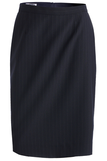 Edwards Ladies Pinstripe Straight Skirt-Edwards