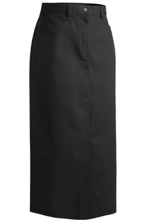 Edwards Ladies Blended Chino Skirt-Long Length-Edwards