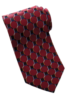 Edwards Honeycomb Silk Tie-