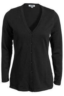 Edwards Ladies V-Neck Fine Gauge Long Cardigan Sweater