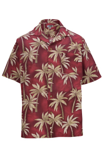 Edwards Tropical Palm Tree Camp Shirt