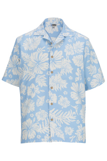 Edwards Hibiscus 2-Color Camp Shirt