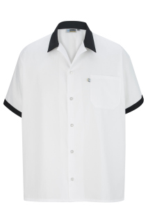 Edwards Button Front Shirt With Trim