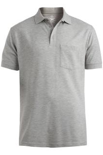 Edwards Cotton Pique Short Sleeve Polo With Pocket