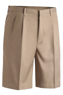 Edwards Mens Microfiber Pleated Front Short