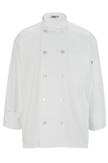 Edwards 10 Button Long Sleeve Chef Coat-Edwards