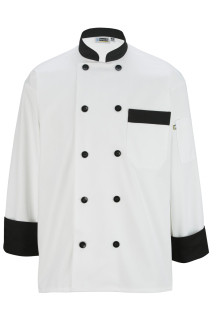 Edwards 10 Button Chef Coat With Black Trim