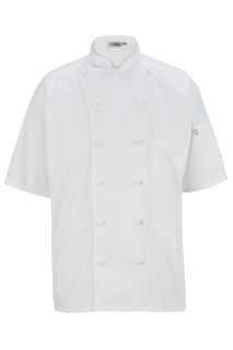 Edwards 12 Button Short Sleeve Chef Coat With Mesh