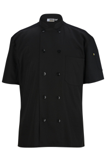 Edwards 10 Button Short Sleeve Chef Coat With Mesh