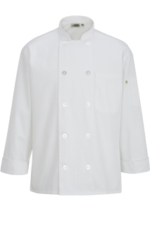 Edwards 10 Button Chef Coat With Mesh