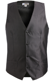 Edwards Mens Grid Brocade Vest